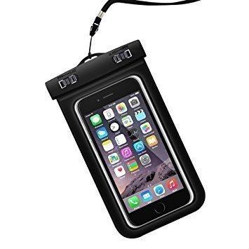 Universal wasserdichte Schutzhülle, MBK weltweit Dry Bag Pouch für iPhone 8, 7, 7+, 6S 6,6s Plus, 7SE 5S, Samsung Galaxy S8, S7, S6Note 75, HTC LG Sony Nokia Motorola bis 15,2cm-Blau, Black Pouch Lg Black Crystal