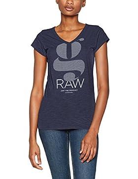G-Star Raw Loreen Sp V T Wmn Cap Sl, T-Shirt Donna