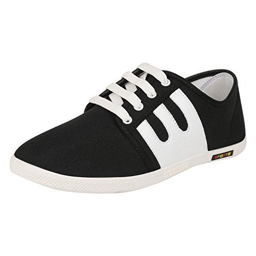Bersache Men's BLack Canvas Sneakers Shoes (Casual Shoes) (10 UK)  available at amazon for Rs.198