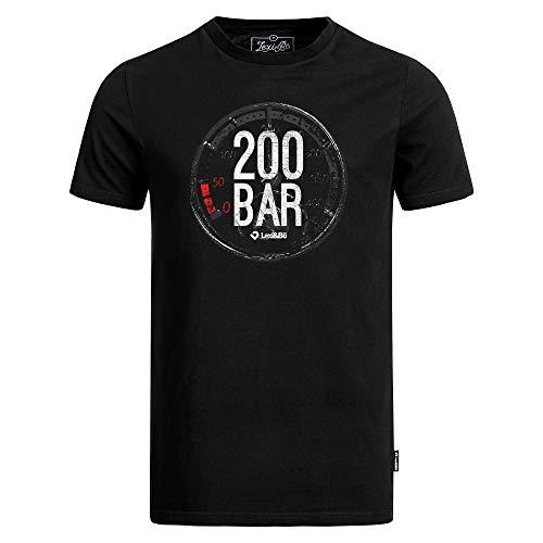 Lexi&Bö T-Shirt Taucher Tauchen Herren 200 Bar aus hochwertiger Bio-Baumwolle fair produziert in Portugal weiß XL -
