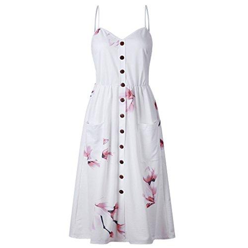 CUIGU 2018 New Plus Size Sexy Casual Summer Dress Boho Beach Pockets Sundress Elegant Daily dess