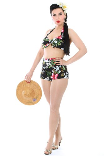 Sugar Shock 50er retro Hawaii Blüten Pin Up Bikini Rockabilly Pin Up -