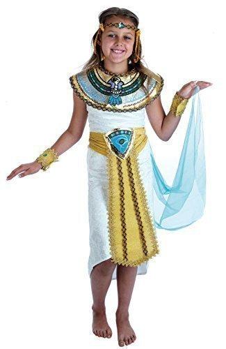Mädchen Ägyptische Kleopatra Mumie Historisch Buch Tag Kostüm Verkleidung Outfit - Mehrfarbig, Mehrfarbig, 10-12 (Ägyptischen Kinder Outfit)