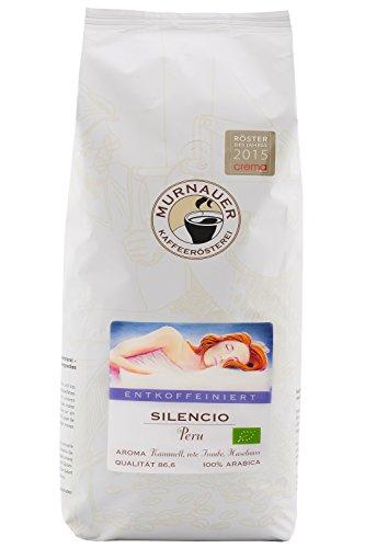 Murnauer Kaffeerösterei SILENCIO - Entkoffeinierter Kaffee aus Peru - Premium Kaffee ohne Koffein - von Hand frisch & schonend geröstet - Espresso und Filterkaffee - 250g gemahlen