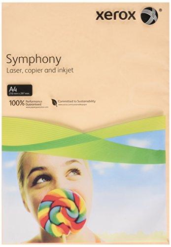 Xerox 003R93230 Drucker-/Kopierpapier Symphony, DIN A4, 160 g/m², 250 Blatt, lachs (Drucker-papier Laser Xerox)