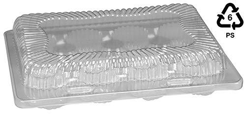 Mini-Muffin-Behälter, durchsichtig, Kunststoff, mit Scharnier, 12 Stück (Scharnier Kunststoff-behälter)