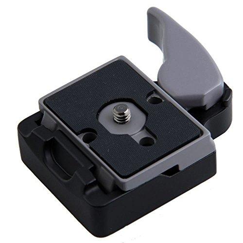 Andoer Abrazadera de apertura rápida cámara 323 Andoer + adaptador de placa de liberación rápida Compatible con Manfrotto 200PL clear search plato -14