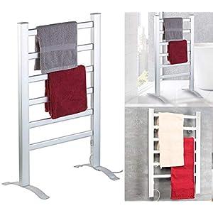 Sichler Haushaltsgeräte Badheizung: 2in1-Handtuchwärmer & Heizkörper, 90 Watt, zum Aufstellen & Aufhängen (Handtuchheizung)