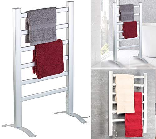 Sichler Haushaltsgeräte Badheizung: 2in1-Handtuchwärmer & Heizkörper, 90 Watt, zum Aufstellen & Aufhängen (Handtuchhalter)
