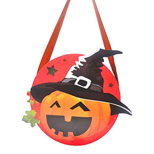 Amosfun Halloween Candy Bag Papiertüte Süßes oder Saures Kürbistüten mit Bandgriff Halloween Party Favors (zufällige Farbe)
