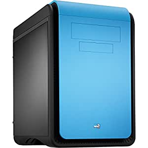 OCHW Aerocool Dead Silence Gaming Cube A10-6800K PC, Gaming Computer Home Office Pc AMD A8-6800K 4.4GHz Quad Core CPU, AMD Ati Radeon Hd 8670D Graphics, 1TB Hard Drive, 8GB DDR3 1600MHZ Memory, USB3.0, No Operating System (BLUE)