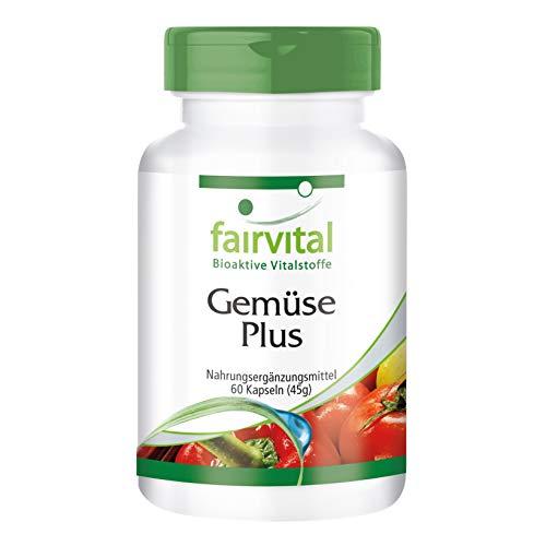 Gemüse Plus - HOCHDOSIERT - 60 Kapseln - enthält hochwertige Gemüsepulver und Vitamine -