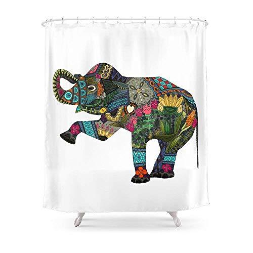 Suminla-Home Badezimmer Asiatischer Elefant weiß Vorhang für die Dusche 182,9cm von 182,9cm