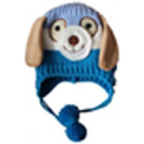Morbido Inverno a maglia Doggie a forma di animale per bambini cappello