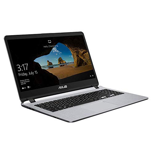 ASUS VivoBook 15 F507UA (90NB0HI1-M14040) 39,6 cm (15,6 Zoll, FHD, matt) Notebook (Intel Core i5-8250U, 8GB RAM, 1TB HDD, 128GB SSD, Intel UHD-Grafik 620, Windows 10) grau 15,6-zoll-entertainment-notebook-pc