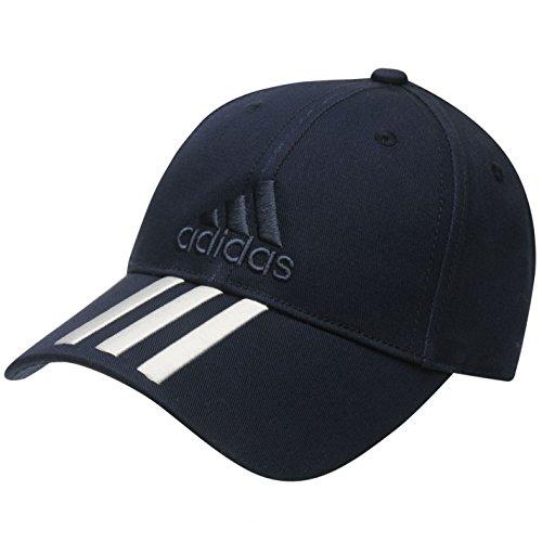 Adidas Marineblau Junior Jungen verstellbar Iconic 3Streifen bestickt Baseball 3Stripe Cap passt Alter sechs bis zwölf Jahren (Fußball-kappe Hut Baseball-kappen)