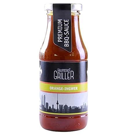 Hauptstadtgriller BBQ Sauce Orange Ingwer, Premium Grillsauce in Bio Qualität (1 x 240ml) (Bio-saison Salz)