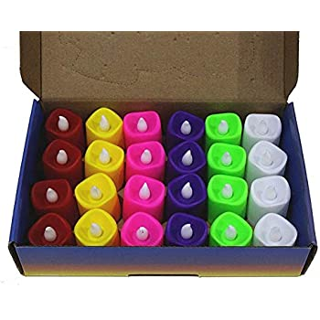 Citra Battery Color Changing Tea Lights, Pack Of 24, 7 Colors