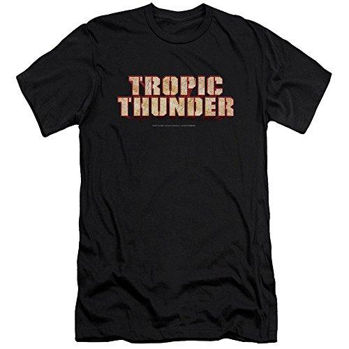 Tropic Thunder - - Männer Titel Premium Slim Fit T-Shirt, XX-Large, Black