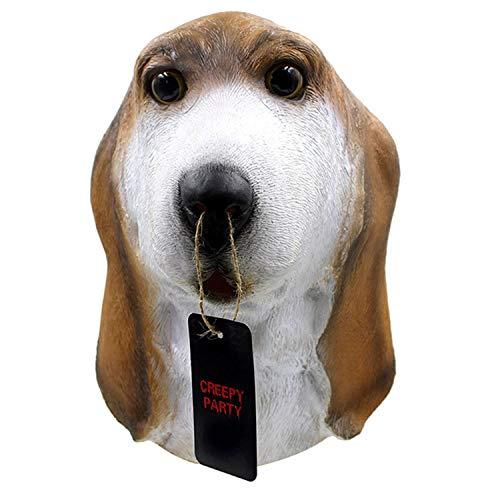 YXXHM- Halloween Foxhound Hood Barça Kopfmaske Ball Party, sicher und umweltfreundlich