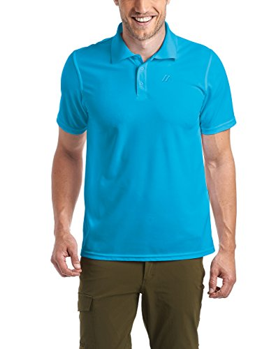 Maier Sports Herren Polo 1/2 Arm T-shirt, Blue Jewel