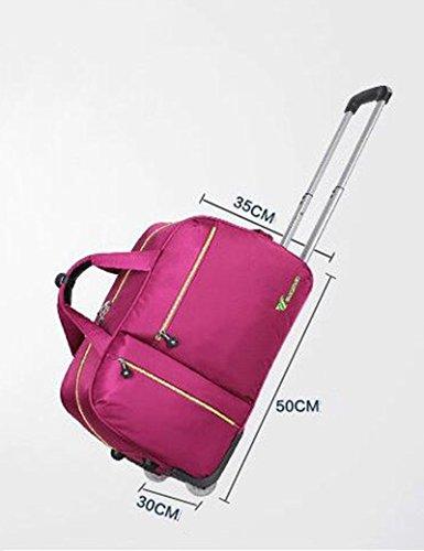 Oxford Tuch Wasserdichte Falt Trolley Taschen Handtasche Reisetasche Boarding Machine ( Farbe : 1 , größe : 26inchs ) 1