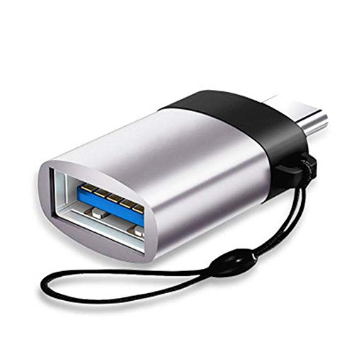FOONEE USB-C-zu-USB-3.0-OTG-Adapter, Aluminium-USB-C-Konverter mit Streifen für MacBook Pro 2018/2017, MacBook Air 2018, Pixel 3, Dell XPS und Weitere Typ-C-Geräte - Schwarz