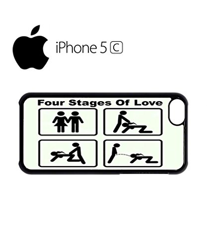 Four Stages of Love Mobile Cell Phone Case Cover iPhone 5c Black Schwarz