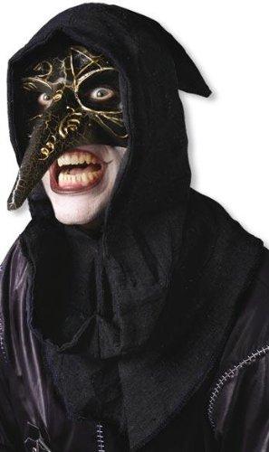 Venezianische Maske schwarz (Pest Maske Venezianische)
