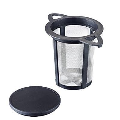 Westmark 15752260 Thé Filtre Permanent PP/Inox Noir/Transparent 11 x 7,2 x 8 cm