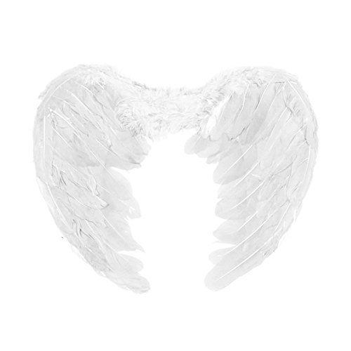edertes Kostüm Engel Fee Engel Flügel - Weiß (Engel Kostüm Für Kinder Uk)
