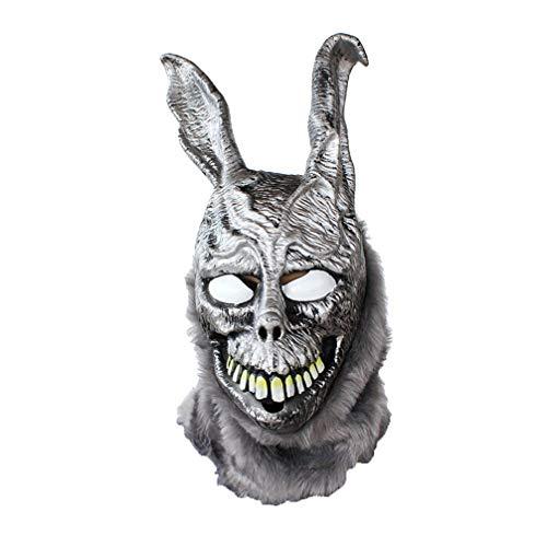 Kostüm Löwe Freundliche - Amosfun gruselige Masken Halloween gruselige hasenmaske Halloween Maskerade Horror Maske Latex Geist Kaninchen Stil Cosplay Masken kostüm Prop zubehör