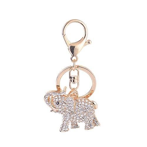 Yeshi Moda Elefante Llavero Rhinestone Mujeres Bolso de mano Charm
