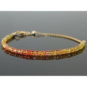 Songea Saphir Armband Padparadscha Farbe