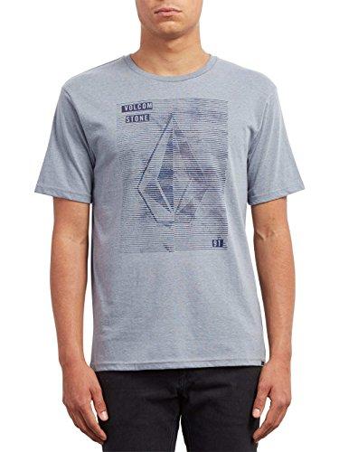 Arctic Blue T-shirt (Volcom Herren Line Tone HTH SS T-Shirt, Arctic Blue, M)
