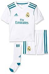 Idea Regalo - Adidas Real Madrid H Mini, Divisa da Calcio Unisex Bambini, Bianco (Bianco/Azuint), 104