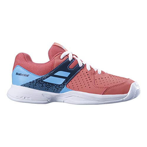 Babolat Kinder Pulsion Allcourt Junior Tennisschuhe Allcourtschuh Orange - Hellblau - Tennisschuhe Asche