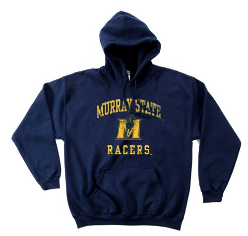 Navy Fußball-maskottchen (NCAA Murray State Racers 50/50 Blended 236 ml Vintage Maskottchen Kapuzenpullover, Herren, Navy, X-Large)