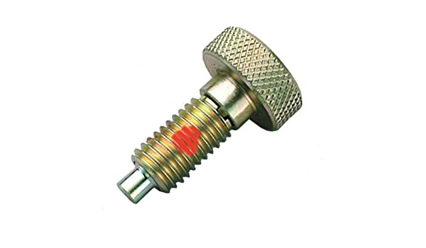 Inc. Hand Retractable Spring Plunger WKNL-1 Locking Hand-Retractable Knurled Handle Spring Plungers with Nylon Patch S/&W Manufacturing Co