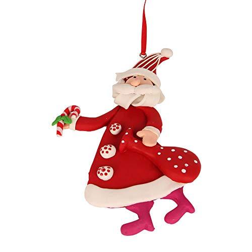 Hänger Santa mit Sack, Material: Fimo, H 14,0 cm -