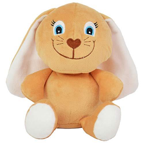 Laber Socke - Conejo para dormir (aprox. 15 x 10 x 17 cm, juguete de aprendizaje con función de grabación y reproducción, se mueve y se mueve con la cabeza, ideal para niños y niñas, como regalo.
