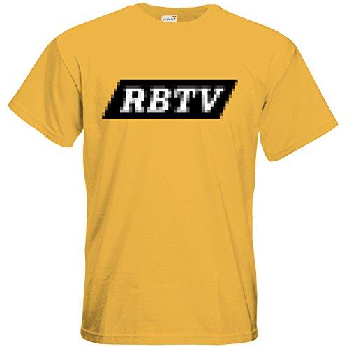 getshirts - Rocket Beans TV Official Merchandising - T-Shirt - Pixel RBTV Gold