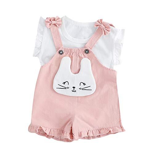 Babykleidung Mädchen Sommer,Covermason Kleinkind Baby Kinder Mädchen Tops Ärmellos + Kaninchen Hase Overall Hose Outfits Set