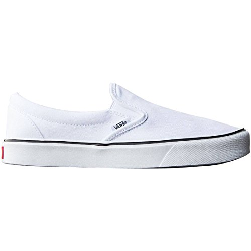 Vans Slip-on Lite Plus - Scarpe da Ginnastica Basse Unisex – Adulto, Nero (canvas/black/black), 34.5 EU Bianco (canvas/true White)