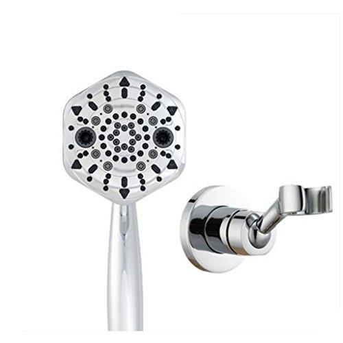 Duschkopf + Sockel ABS Kunststoff silber weiß Farbe grau 7 Features Handfilter Druck 10,1 cm Panel Wasser Heizung Wasser Heizung Bad Duschzubehör -