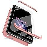 FMPC Cover per iPhone 6/iPhone 6s, Custodia in PC Rigida con 3D Vetro Temperato Struttura[3 in 1] Bumper Finitura Opaca Corpo Intero Ultra Slim Case Antiurto AntiGraffio-Oro Rosa