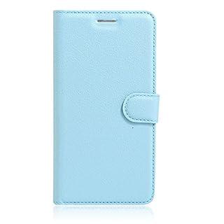 Aodoor phone case (light blue), PU Leather Adjustable Flip phone case cover Magnetic Closure Kickstand Design for Xiaomi 4