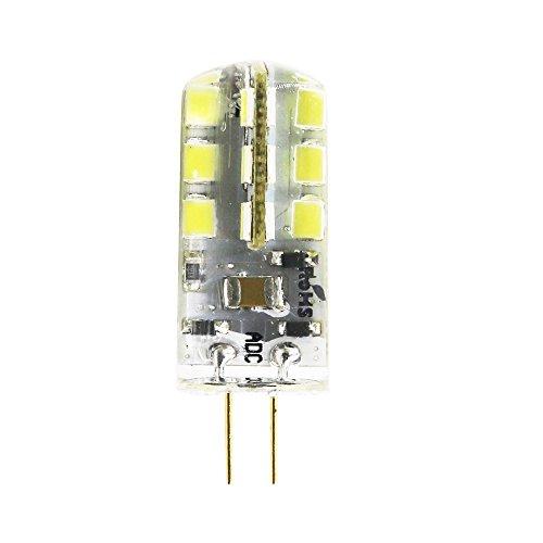 LED Perlen-Lampen G4 24 SMD 2835, 240 lm, 3 Walt entspricht 30 W Glühlampe oder Halogen Lampen, LED Energiesparleuchte, kaltweiß 6500 K AC12V /AC220V (1 Stück, AC 12 Volt) - 3