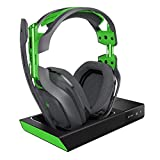 ASTRO Gaming A50 Casque filaire et station d'accueil avec son surround Dolby 7.1 - Compatible Xbox One, PC, Mac - Gris/vert