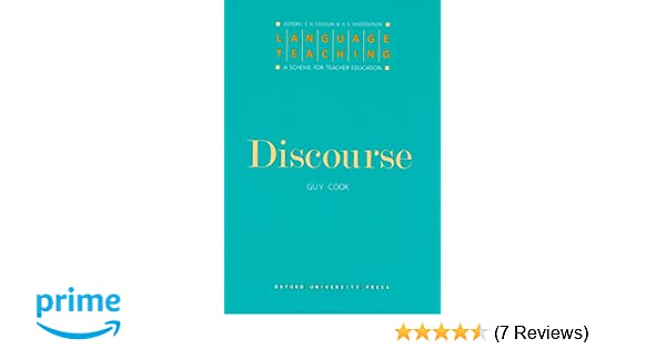 Discourse By Guy Cook Pdf